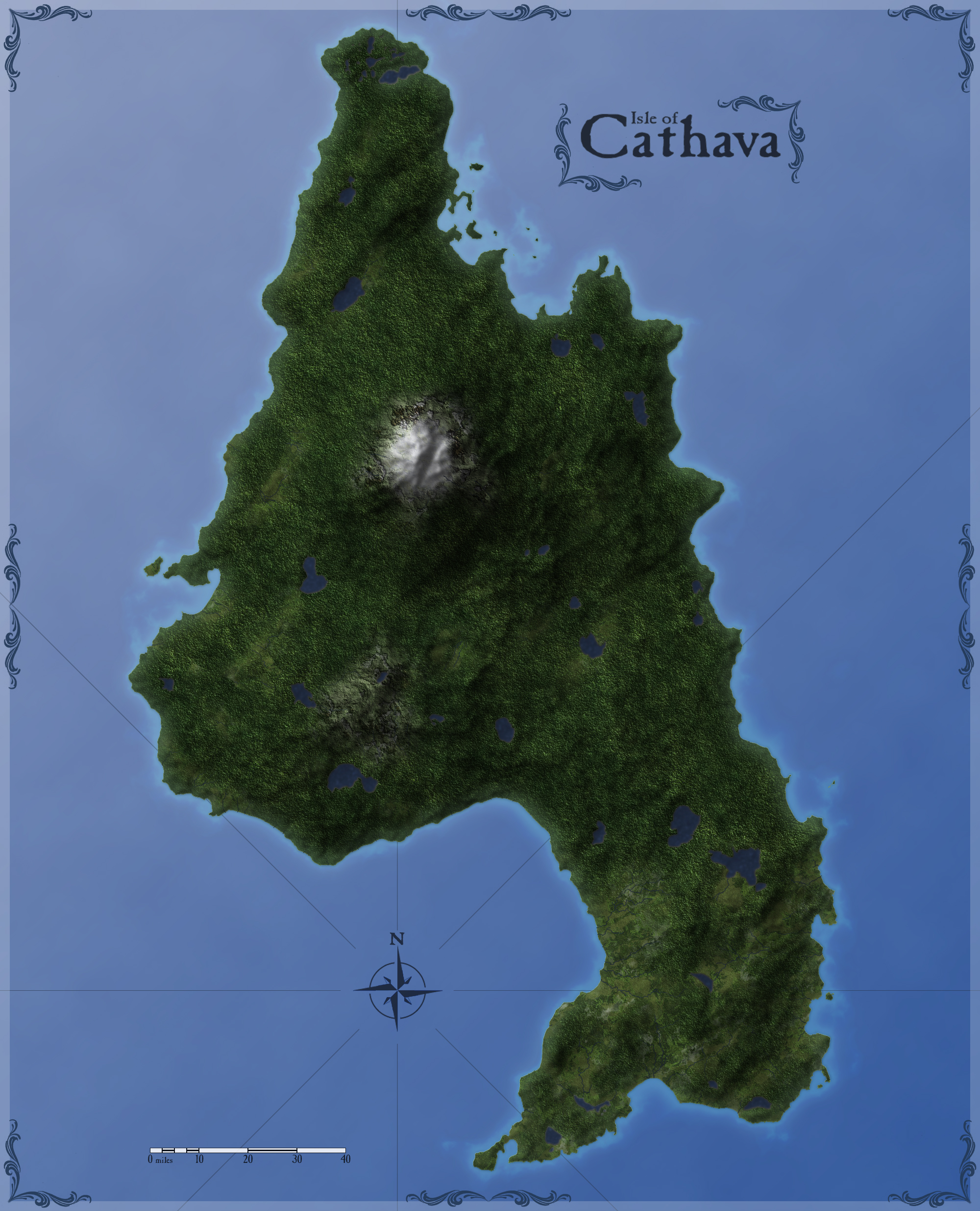 Wip The Isle Of Cathava Page - Terrain map uk